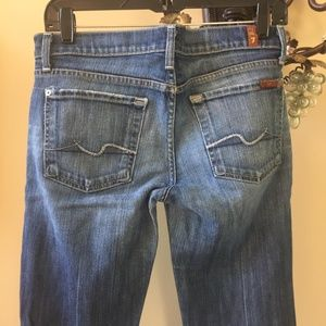 7 for all mankind straight Leg Distressed Jeans 27